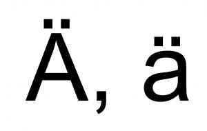 a-trema-majuscule-minuscule