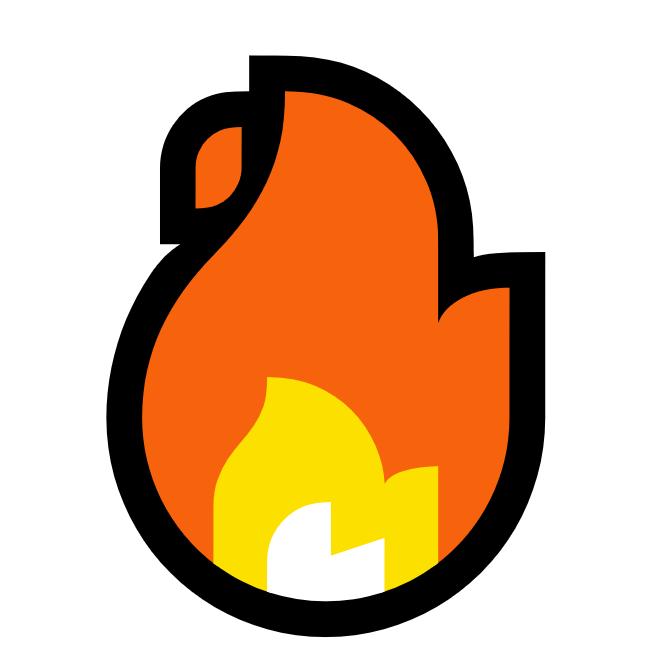 Emoji feu ou flammes 🔥 • Les raccourcis clavier